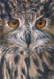 Art and wellbeing. Owl.