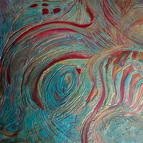Art and wellbeing. Abstract painting.
