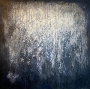 Art and wellbeing. Trees, light through darkness.