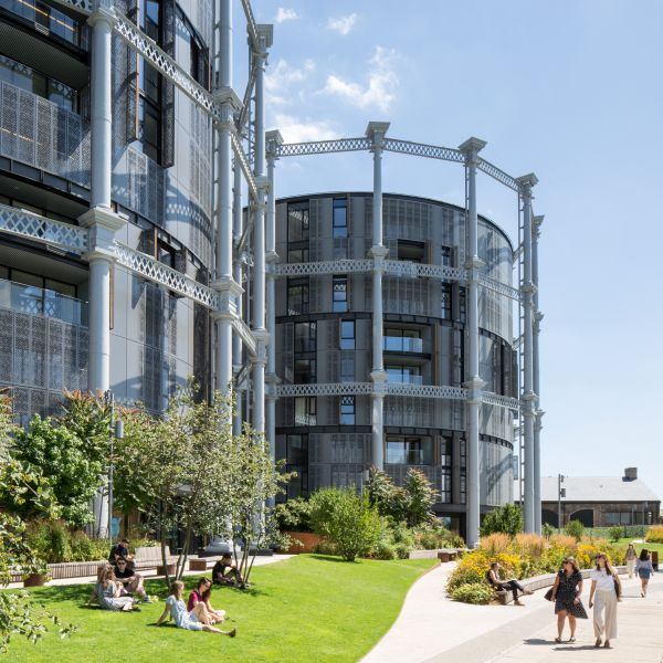 Art and wellbeing. Gasholders in London.