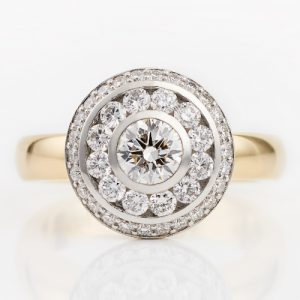 Happy rose diamond ring designed by Sarah May