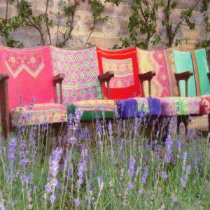 Decorative chairs, Penny Horne, Landscape Artist - a restorative experience