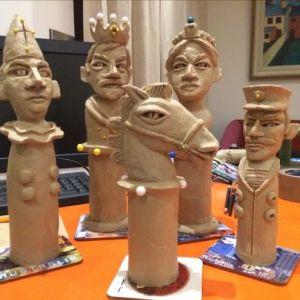 Chess men, Graham Knuttal, Sculptor & Painter- Art Impacts Our Health