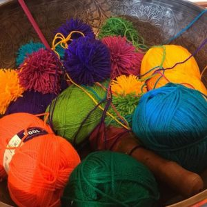 Coloured balls of wool, Penny Horne, Landscape Artist - a restorative experience
