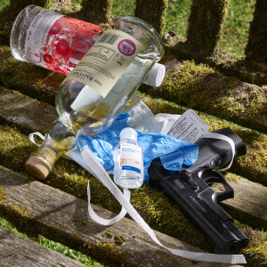 Alcohol, drugs, mask and gun. Sarah Muirhead-Allwood, Orthopaedic Surgeon and Photographer - Insight into her art of living