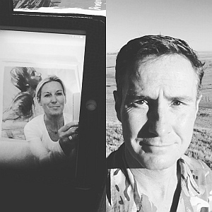 Sarah and husband Zak on a long distance video call. Sarah Stenning; a mother, army wife, successful entreprener and cancer patient