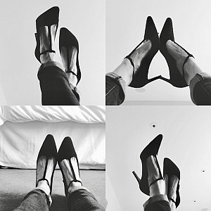 4 images of shoes. Sarah Stenning; a mother, army wife, successful entreprener and cancer patient