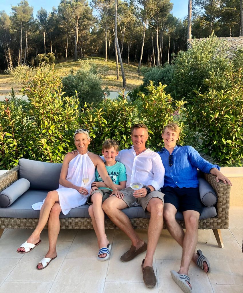 Sarah on holiday relaxing with her family. Sarah Stenning; a mother, army wife, successful entreprener and cancer patient
