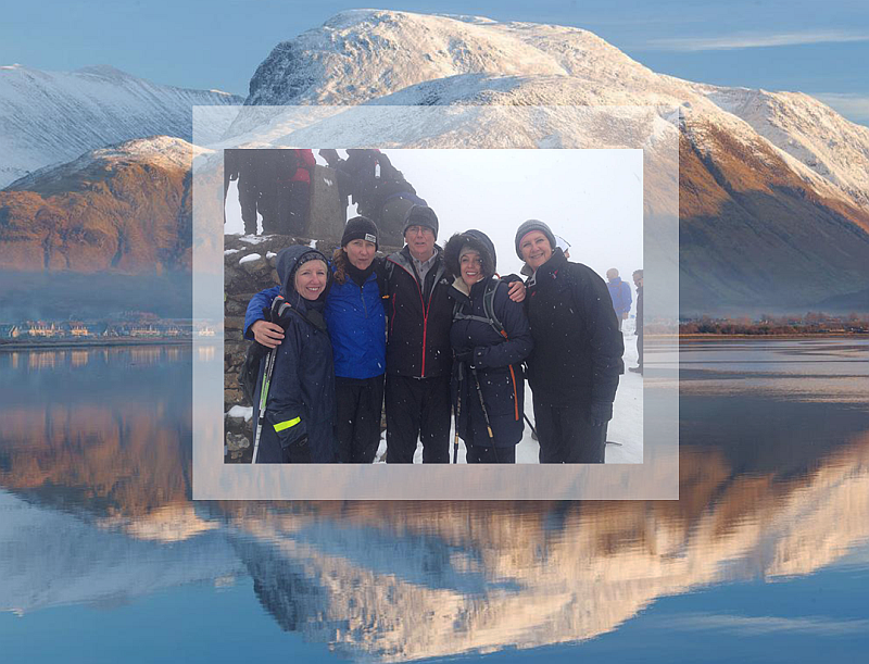 Family on Ben Nevis. Dame Marianne Griffiths; the CEO of Brighton and Sussex University Hospitals NHS Trust.