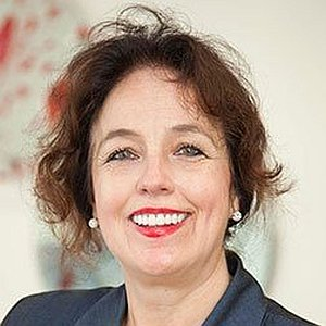 A smiling Marianne. Dame Marianne Griffiths; the CEO of Brighton and Sussex University Hospitals NHS Trust.