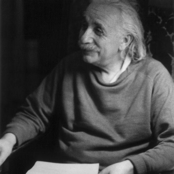 Albert Einstein, smiling image taken by Marilyn Stafford