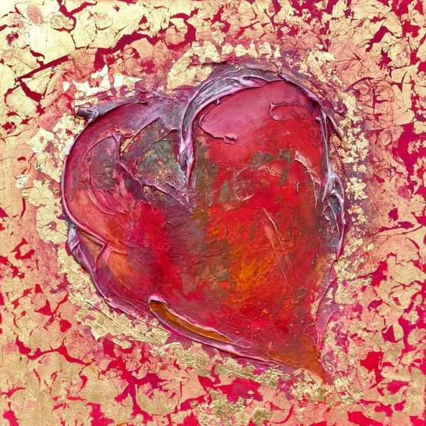 Art and wellbeing. bleeding heart painting.